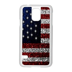 American Flag in Glitter Photograph Samsung Galaxy S5 Case (White)