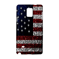American Flag in Glitter Photograph Samsung Galaxy Note 4 Hardshell Case