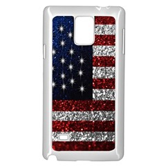 American Flag In Glitter Photograph Samsung Galaxy Note 4 Case (white)