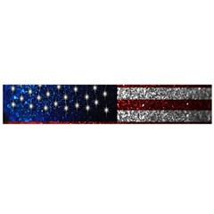 American Flag in Glitter Photograph Flano Scarf (Large)