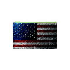 American Flag In Glitter Photograph Cosmetic Bag (xs)