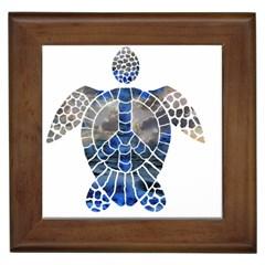 Peace Turtle Framed Ceramic Tile