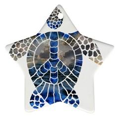 Peace Turtle Star Ornament