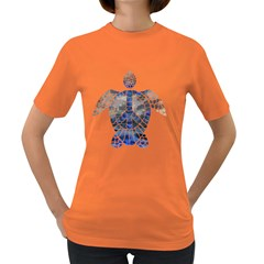 Peace Turtle Women s T Shirt (colored)