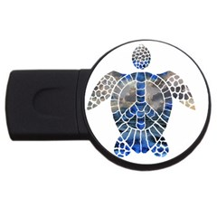 Peace Turtle 4gb Usb Flash Drive (round)