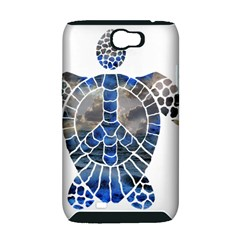 Peace Turtle Samsung Galaxy Note 2 Hardshell Case (PC+Silicone)