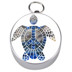 Peace Turtle Silver Compass