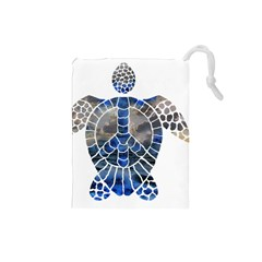 Peace Turtle Drawstring Pouch (Small)
