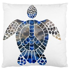 Peace Turtle Large Flano Cushion Case (Two Sides)