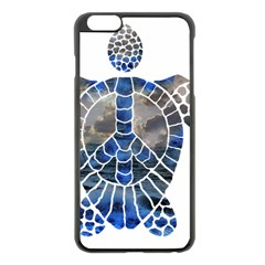 Peace Turtle Apple iPhone 6 Plus Black Enamel Case