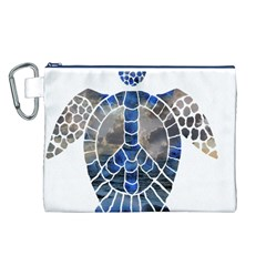 Peace Turtle Canvas Cosmetic Bag (Large)