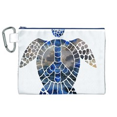 Peace Turtle Canvas Cosmetic Bag (xl)