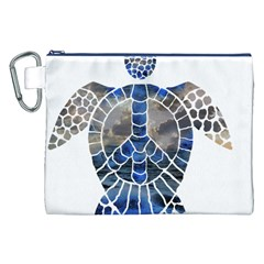Peace Turtle Canvas Cosmetic Bag (XXL)