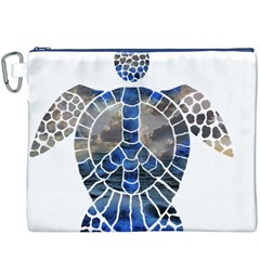 Peace Turtle Canvas Cosmetic Bag (XXXL)