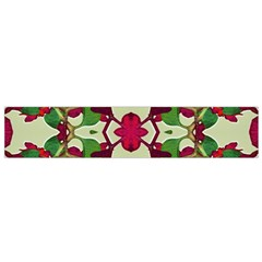 Floral Print Colorful Pattern Flano Scarf (small)