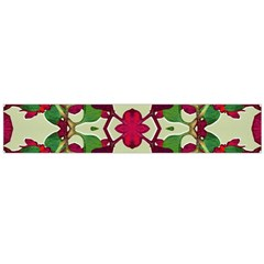 Floral Print Colorful Pattern Flano Scarf (Large)