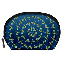 Sunbirds Pattern  Accessory Pouch (Large)