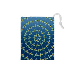 Sunbirds Pattern  Drawstring Pouch (Small)