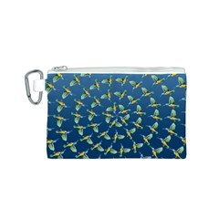 Sunbirds Pattern  Canvas Cosmetic Bag (Small)