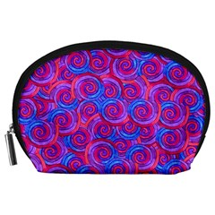 Purple Spirals Accessory Pouch (Large)