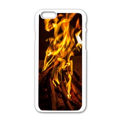 Fire Apple iPhone 6 White Enamel Case