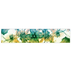 Multicolored Floral Swirls Flano Scarf (Small)