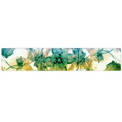 Multicolored Floral Swirls Flano Scarf (Large)