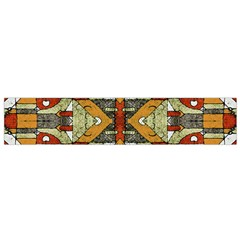 Multicolored Abstract Tribal Print Flano Scarf (Small)