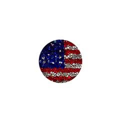 American Flag Mosaic 1  Mini Button Magnet