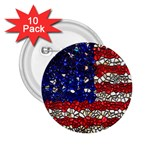 American Flag Mosaic 2.25  Button (10 pack) Front