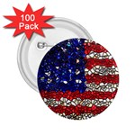 American Flag Mosaic 2.25  Button (100 pack) Front