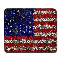 American Flag Mosaic Large Mouse Pad (rectangle)