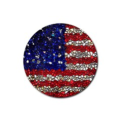 American Flag Mosaic Drink Coasters 4 Pack (round)