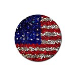 American Flag Mosaic Drink Coasters 4 Pack (Round) Front