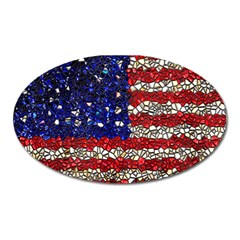 American Flag Mosaic Magnet (oval)