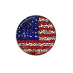 American Flag Mosaic Golf Ball Marker 4 Pack (for Hat Clip) Front