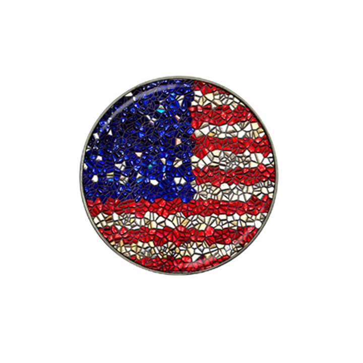 American Flag Mosaic Golf Ball Marker 4 Pack (for Hat Clip)