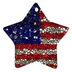 American Flag Mosaic Star Ornament (two Sides)