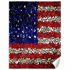 American Flag Mosaic Canvas 18  X 24  (unframed)