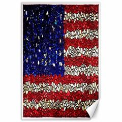 American Flag Mosaic Canvas 24  X 36  (unframed)