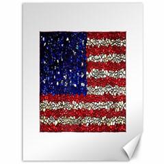American Flag Mosaic Canvas 36  x 48  (Unframed)