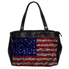 American Flag Mosaic Oversize Office Handbag (one Side)