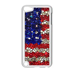American Flag Mosaic Apple Ipod Touch 5 Case (white)