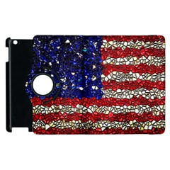 American Flag Mosaic Apple iPad 3/4 Flip 360 Case