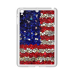 American Flag Mosaic Apple Ipad Mini 2 Case (white)