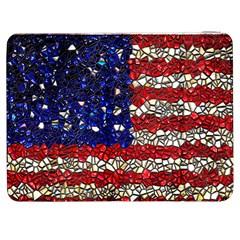American Flag Mosaic Samsung Galaxy Tab 7  P1000 Flip Case