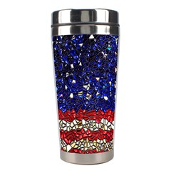 American Flag Mosaic Stainless Steel Travel Tumbler