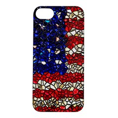 American Flag Mosaic Apple iPhone 5S Hardshell Case