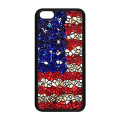 American Flag Mosaic Apple iPhone 5C Seamless Case (Black)