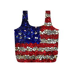 American Flag Mosaic Reusable Bag (S)